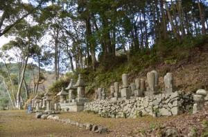 大仙寺の墓地(南伊勢町東宮)