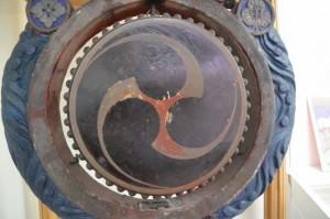 佐美長神社の神楽殿で使用された神楽太鼓(志摩市歴史民俗資料館)