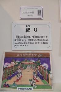 祀りに関する展示(志摩市歴史民俗資料館)