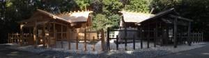 雨儀廊が撤去された伊雜宮