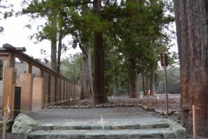 外宮(豊受大神宮)の板垣に開口された臨時出口