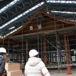 西脇殿の建築現場(斎宮復元建物工事見学会)
