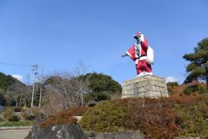 河村瑞賢公園のサンタクロース(南伊勢町東宮)