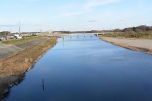 櫛田橋(櫛田川)から望む下流方向
