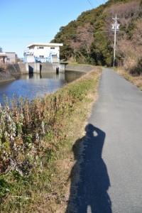 蟹田排水機場付近