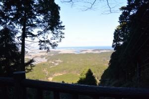 朝熊岳道からの眺望(朝熊登山鉄道ケーブルカー跡に架かる橋の上にて)