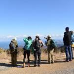 朝熊ヶ岳(朝熊山)山頂から富士山方向を望む