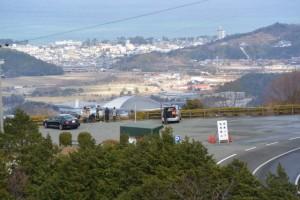 宇治岳道から望む伊勢志摩スカイラインの一宇田展望台