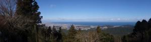 朝熊峠(朝熊岳道と宇治岳道の分岐)からの眺望