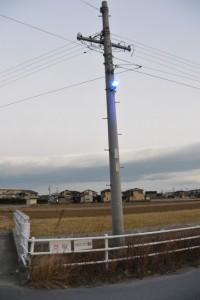 青色の街灯