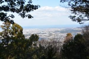 鼓ヶ岳山頂から望む伊勢市街