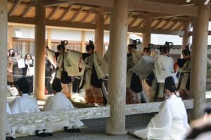 歌舞「東遊」(内宮 五丈殿)