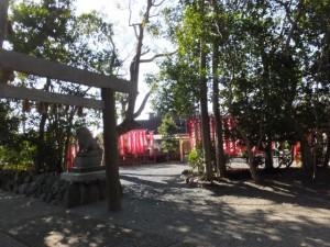 橘神社から勝廣稲荷大明神への参道