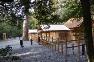 若宮神社付近から望む瀧原竝宮、瀧原宮