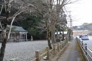 国道42号、並大神社付近(大紀町崎)