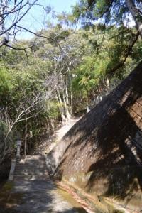 栃木バスのりば付近の祠への階段(南伊勢町栃木竃)