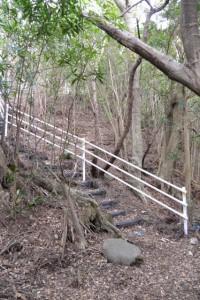 芳草神社から上方へと続く階段(南伊勢町方座浦)