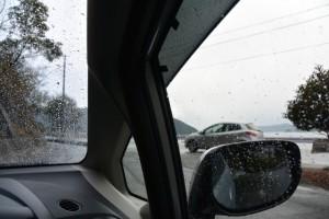 金網山西方寺付近(南伊勢町河内)にて車中での雨宿り