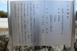 上田神社の由緒ほか(伊勢市中村町)