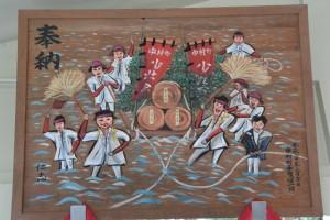 上田神社に奉納されている絵画(伊勢市中村町)