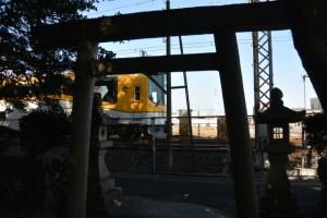近鉄山田線 竹神社付近(明和町斎宮)