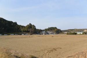 農道から山田寺方向の遠望