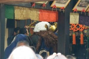 山神の獅子舞神事(山田寺)(玉城町山神)