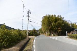 農免道路との分岐(度会町下久具)