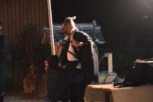 海蔵寺の境内での天狗の舞(下久具の御頭神事)