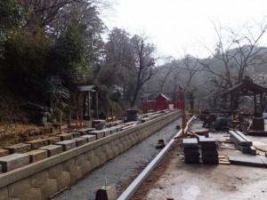 修復工事中である新四国霊場(丹生大師 神宮寺)