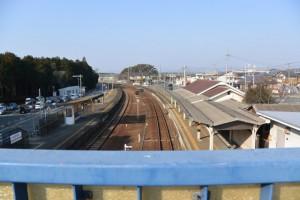 JR参宮線 宮川駅の跨線橋からの風景