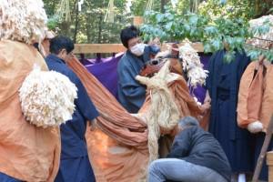 獅子神楽、市場(一之瀬神社)