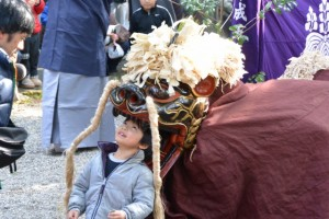 獅子神楽、和井野(一之瀬神社)