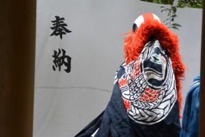 御頭神事-七起こし舞奉納(高向大社)