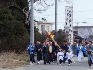 御頭神事-小殿社拝礼(高向大社)