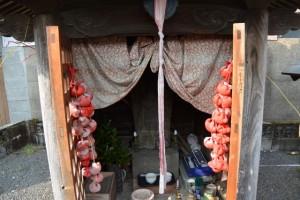庚申堂の青面金剛像(五ヶ所神社付近)