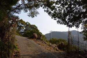 五ヶ所浅間山の参道(山道)、現在はこの先行き止まり