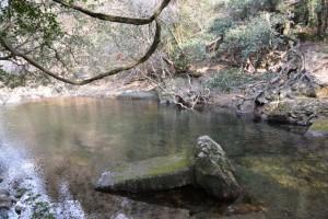五十鈴川で見つけた流された橋脚(高麗広公民館付近)