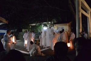 遷座祭 栄通神社(伊勢市通町)