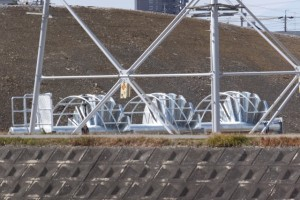 宮川4工区地区県営かんがい排水事業(一般)浜郷線勢田川水管橋製作架設工事