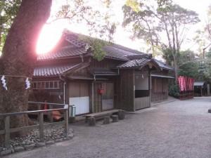 河邊七種神社の社務所(伊勢市河崎) 2011年01月09日時点