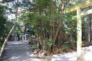 河原淵神社(豊受大神宮 摂社)から船江上社方向を望む