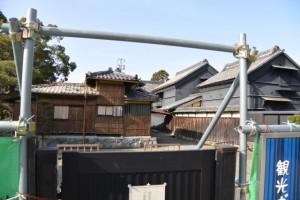 大正座敷修理工事中(旧長谷川邸)