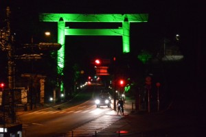 グリーンライトアップ(御幸道路の大鳥居)