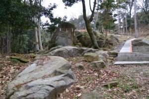 子授岩付近(白山比咩神社、津市白山町川口)