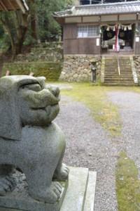 白山比咩神社の狛犬(津市白山町山田野)