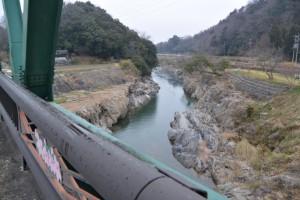 瀬戸ヶ淵橋(雲出川)から望む瀬戸ヶ淵