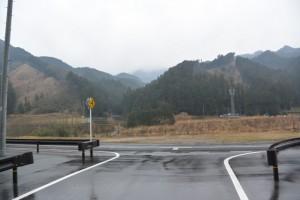 竹原神社の石階下からの風景(津市美杉町竹原)