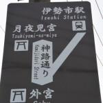 神路通り(外宮北御門口〜月夜見宮)に新たに設置された案内板