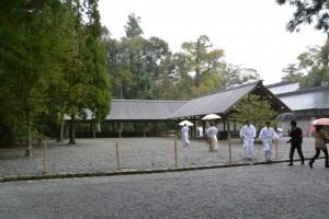 雨儀に変更された後鎮祭(風宮)